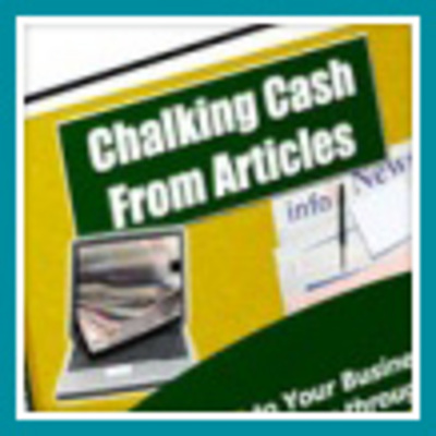 Product picture Chalking Cash From Articles